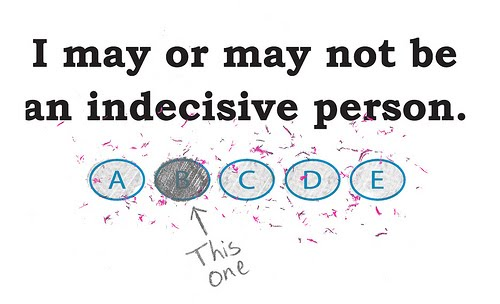 What does indecisiveness mean