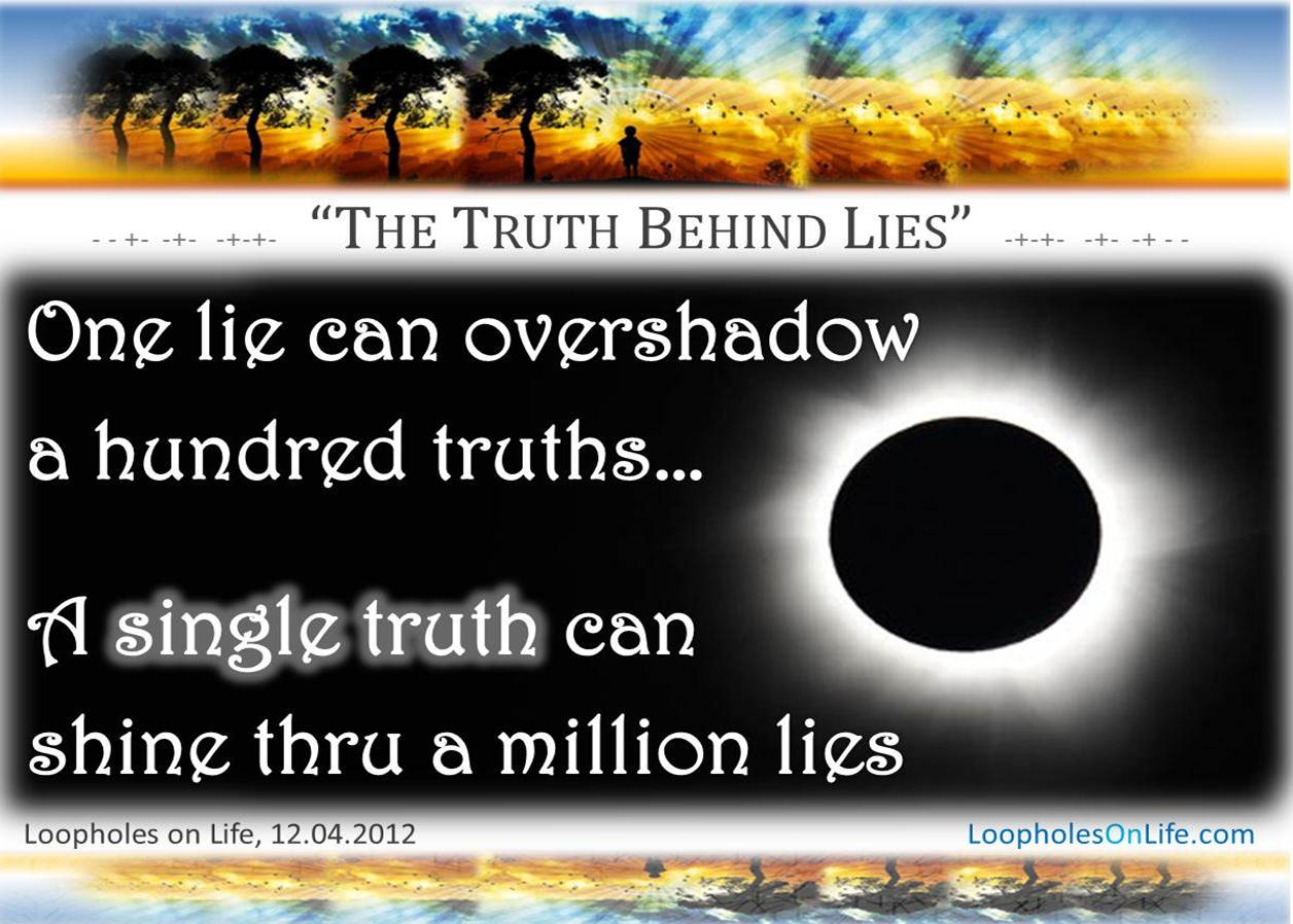 essay about lies and truth