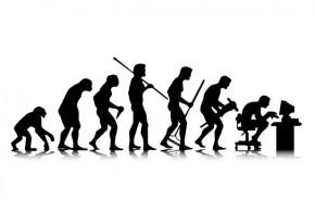 the evolution of man, devolving all over again
