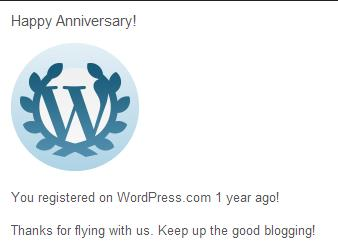 1 Year Already - Thanks Readers & Blogosophere!